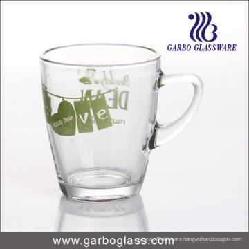 Decal Glass Mug/Cup, Printed Glass Mug/Cup, Imprint Glass Mug (GB094211-2-QT-112)