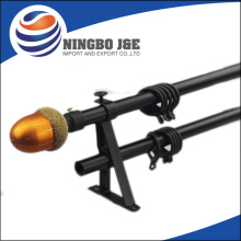 19mm cat semprot tirai logam hitam Rod