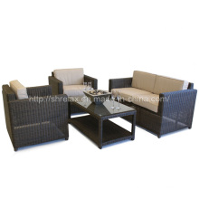 Patio Rattan Furniture Garden Wicker Lounge Sofa Set