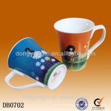 Copo personalizado da caneca da porcelana do logotipo, copo cerâmico da caneca