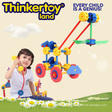 Child Crane Pink Flower Assembled Toy
