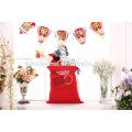 2017 nouveau design Santa Claus sac organique lourd toile sac à cordon noël enfants de noël sacs-cadeaux Santa Sack