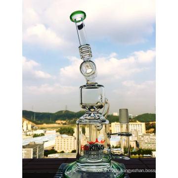 Tuyau d'eau de verre Recycler de 13 pouces