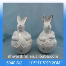 Décoration de Pâques belle figurine en lapin en céramique