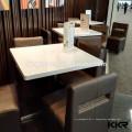Table basse ronde en acrylique solide blanc