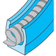 Подпитанное весной уплотнение PTFE - дюймовый Размер