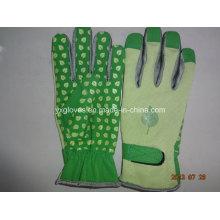 Guante de jardim - Luva pontilhada de PVC - Luva de trabalho - Luva de trabalho - Luva de couro