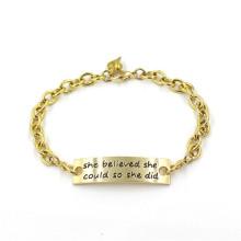 Подарок 14k позолоченный пользовательских браслет моды ювелирные изделия