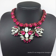Wire rojo tejido a mano Shourouk estilo de la moda collar (XJW13603)