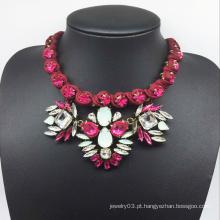 Fio vermelho mão-tecida Shourouk estilo moda colar (xjw13603)