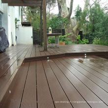 plancher en bois plein solide extérieur écologique composé de haute résistance de plancher