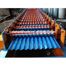 Steel roof/wall panel roll forming machine