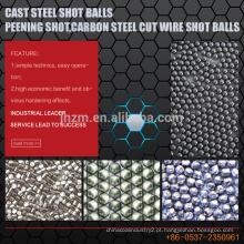 Bolas de tiro de aço fundido, tiro Peening, bolas de tiro de fio de corte de aço carbono
