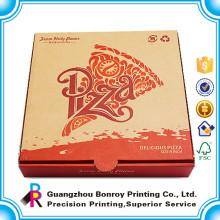 Alibaba Top Qualität benutzerdefinierte Pizza voll weiß Verpackung Papier Box drucken