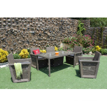 Patio Garden Poly Rattan 6 Pieces Dining Set