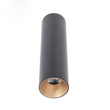 20W anti glare dimmable rectangle cylinder black LED suspended ceiling light for restaurant