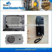Sistema de intercomunicador de 3 fios para elevador e elevador