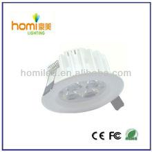 3W downlight techo luz blanca impresión