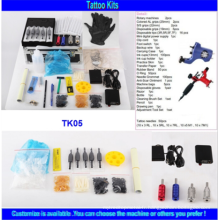 2015 Hot Sale Kit de tatouage rotatif à tatouage professionnel à haute qualité professionnel avec 2 tatouage Gun Tattoo Ink Power Supply