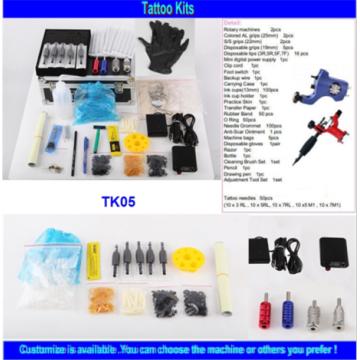 2015 Hot Sale Cheap High Quality Professionals Rotary Tattoo Machine Tattoo Kit with 2 Tattoo Gun Tattoo Ink Power Supply