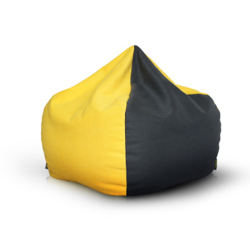 Best quality Low price for Dorm Room Bean Bag Yellow and black Soft velvet material bean bag supply to Turkmenistan Suppliers