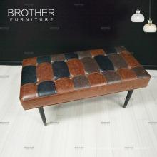 Dekorative rechteckige zusammenklappbare Oberleder-Hocker-Sitzbank