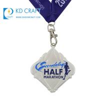 Wholesale china custom metal zinc alloy embossed 3d sports marathon running 10k medal for award