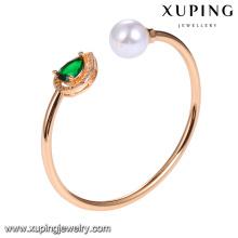 51731 xuping jóias colorido sintético CZ pedra de ouro moda pulseira para as mulheres