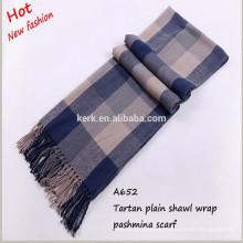 A652 moda atacado vestidos de mulheres tartan design neckwear lenço de lã
