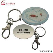 Esmalte personalizado barato Designer chaveiros para presente (LM1554)