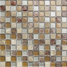 Mosaico de cristal de cristal moderno de 8m m para el cuarto de baño