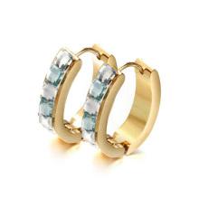 Bracelete do ouro do projeto extravagante do homem com o anel anexado