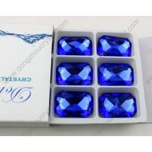 ДЗ-3008 Восьмиугольник Капри синий 10X14mm Кристалл шить на стразы