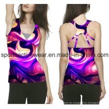 Hecho en China Diseño de moda V cuello de manga corta Cottot Camiseta de encargo de la mujer