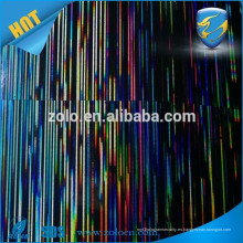 Película Iridiscente Hot Custom BOPP / PET película de holograma