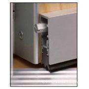 Brown Automatic Door Bottom Seal Anti-dust , Door Rubber Seal Pvc For Hotel