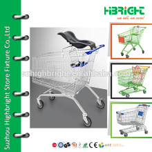 supermarket steel storage trolley