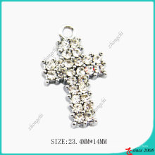 Diomend Metal Alloy Cross Pendant