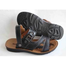 Klassische Stil Männer Strand Schuhe Leder Obermaterial (SNB-14-019)