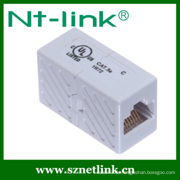 Heiße verkaufende gute Qualitätsweiß-Farbe UTP Cat.5E Inline-Kuppler