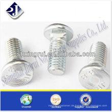 SAE flache Hitze mit quadratischem Hals BOLT Grad 8.8 Zink TS16949 ISO9001