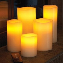 Real Wax Flameless Candles with Remote