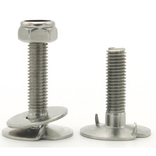 High hardness stainless steel full thread connector bolt and nuts fasteners