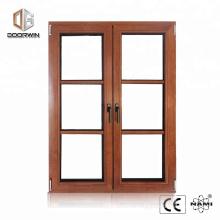 Diseño de moda de madera de roble, ventana de francia con vidrio doble acristalamiento y diseño de rejilla real