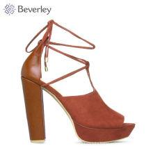 HXS311 wholesale hot saling block high heel sandals women shoes