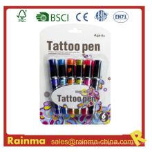 Caja de tinta de gel de tatuaje seguro para la pintura de la cara del cuerpo