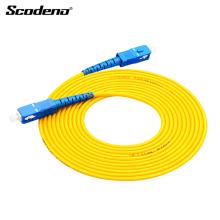 Cabo de remendo de fibra óptica de fábrica profissional OEM SC-SC para solução de rede