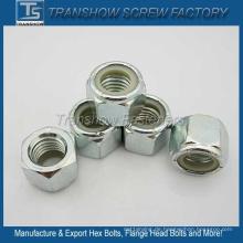 ANSI / ASME B 18.2.2 Sechskant-Nylon-Kontermutter aus Stahl