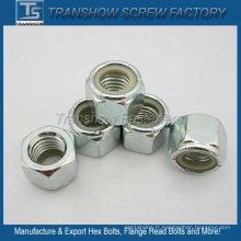ANSI / ASME B 18.2.2 Écrou de verrouillage en nylon à six pans creux en acier