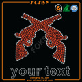 Guns Your Text hotfix rhinestone transfers